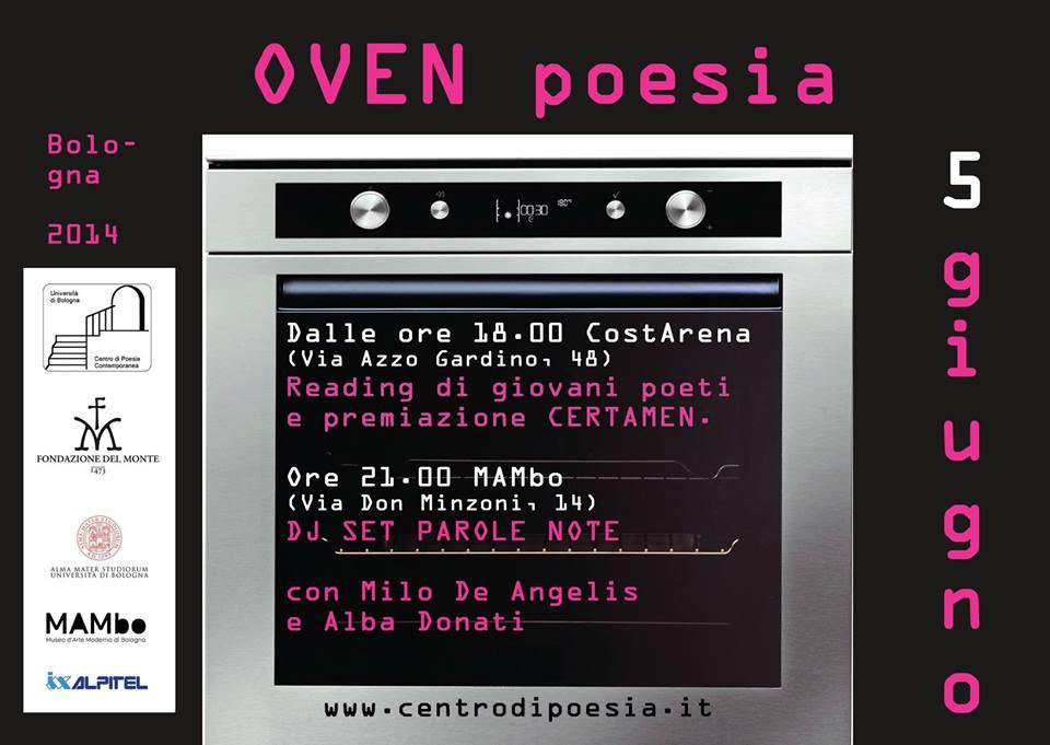 """Bologna, 5 giugno 2014 – """"OVEN poesia"""""""
